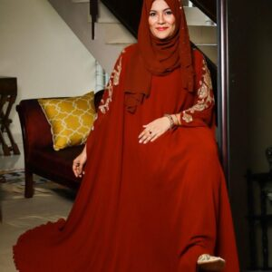 Wild Rose Cape Gown-Red
